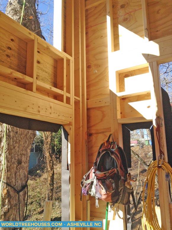asheville tree house inner detail