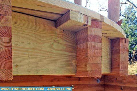asheville treehouse detail