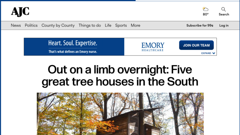 World Treehouses' owner, Adam Laufer, quoted in Atlanta Journal