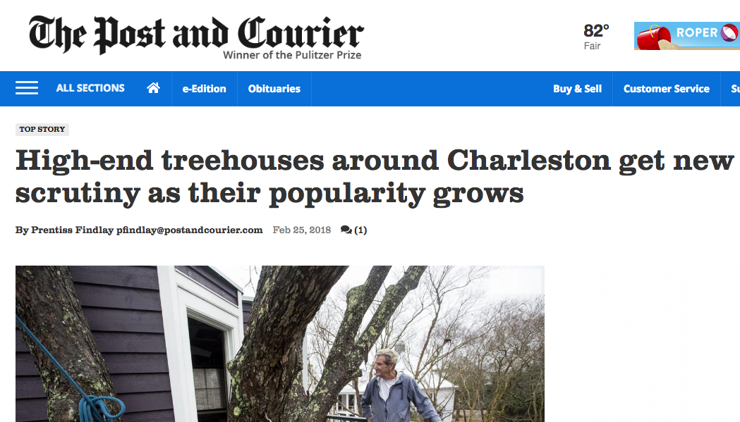 World Treehouses' owner, Adam Laufer, quoted in The Post and Courier!