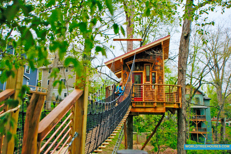 Build A Magical Retreat Like This Asheville Tree House World