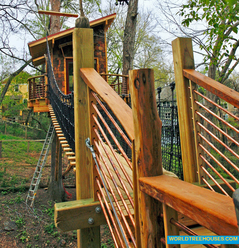 Thank you to Michael Stam, our bridge designer for this downtown Asheville treehouse