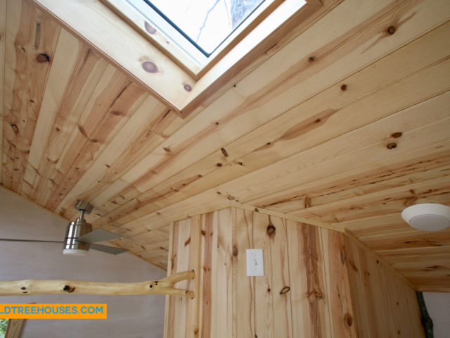 WNC treehouse builder: Beautiful loft detail on our Asheville Downtown treehouse.