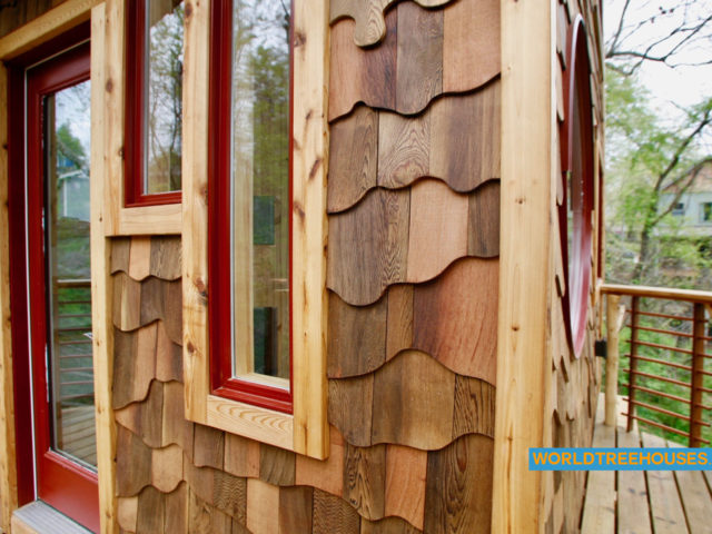 Treehouse builders WNC: Downtown project beautiful outside corner siding