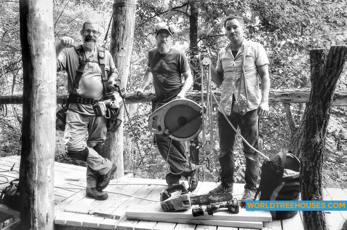 Asheville Treehouse Builder : World Treehouses' Panthertown Project Team