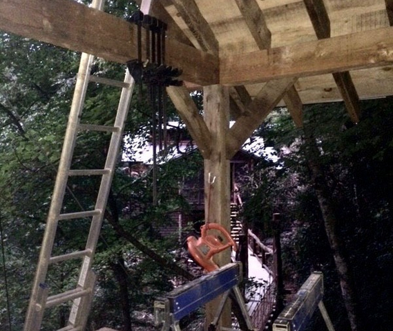 WNC Treehouse Builder : Panthertown Workspace Second Floor