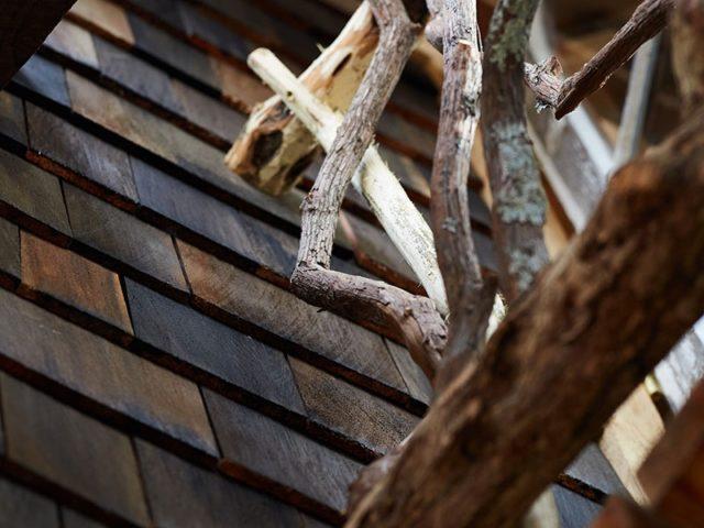 WNC treehouse builders:Panthertown laurel railing details 1