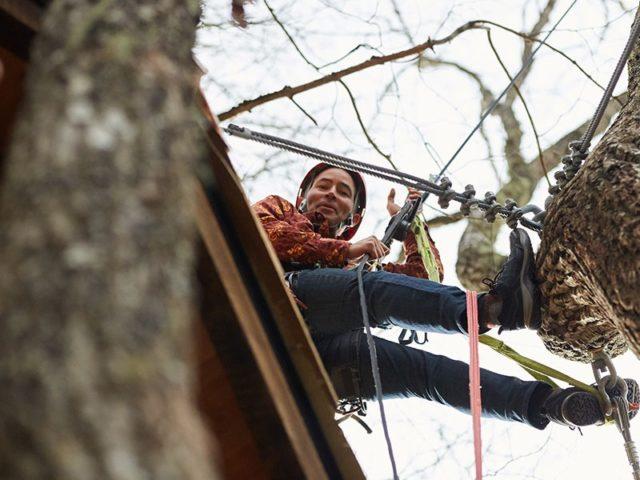 NC tree house builders : Adam smiling in Panthertown