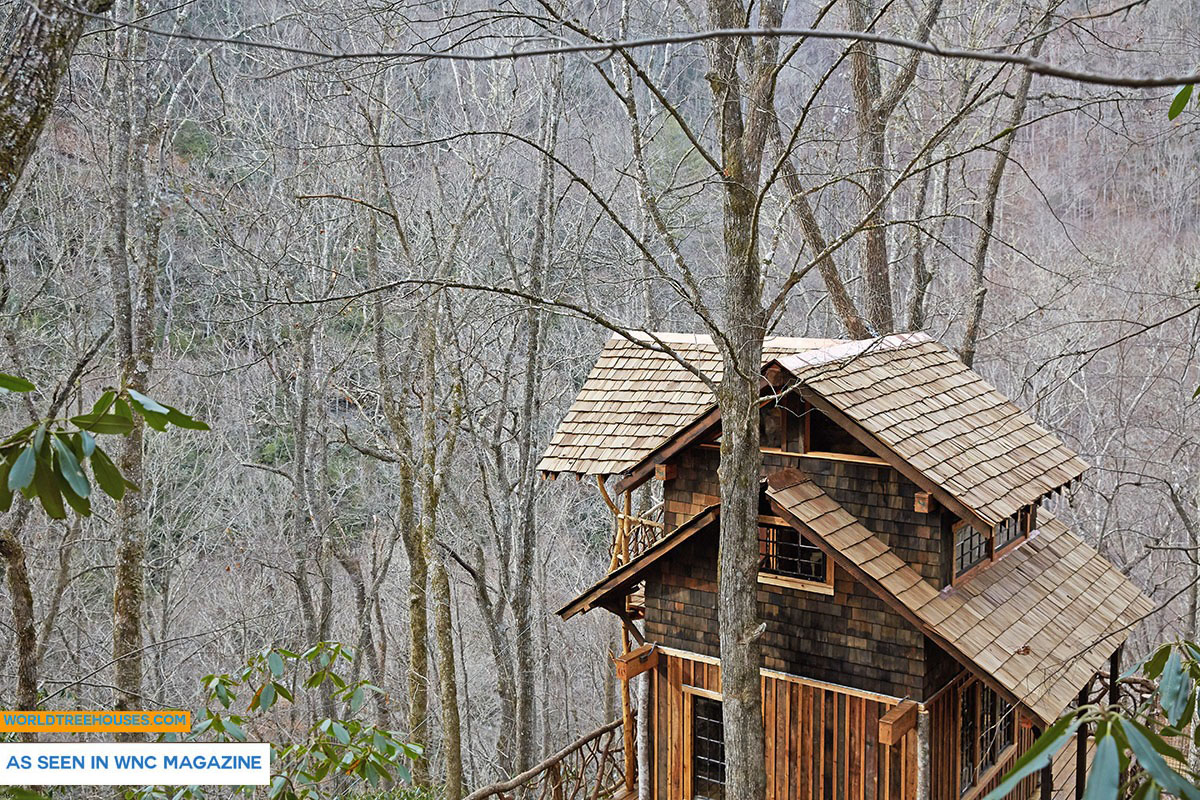 Asheville tree house builder : Treehouse Ode to the Wilderness