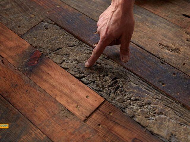 Asheville tree house builder : Hardwood Floor of Vintage Barn Boards