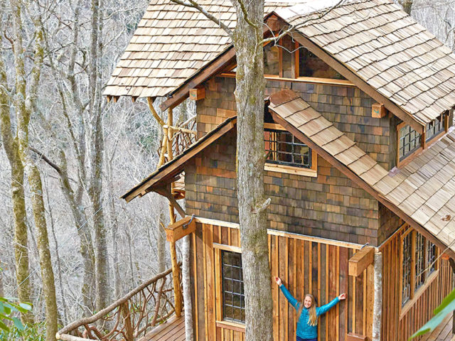 WNC TREE HOUSE BUILDER: Panthertown treehouse: The Exhilaration of Being in the Trees!