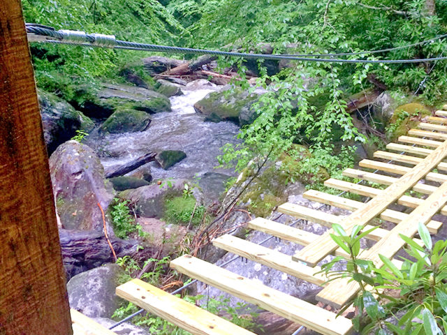 WESTERN NC TREEHOUSE BUILDER: Panthertown swimming hole access: Decking is going on!