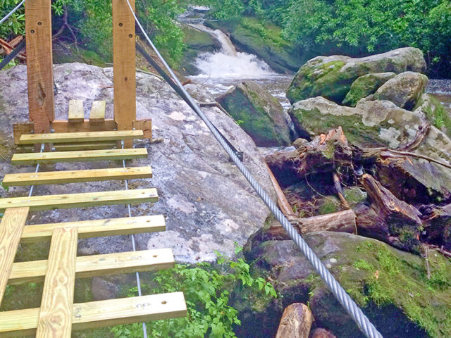 ASHEVILLE TREE HOUSE BUILDER: Panthertown swimming hole access: Summertime swimming hole access almost ready!