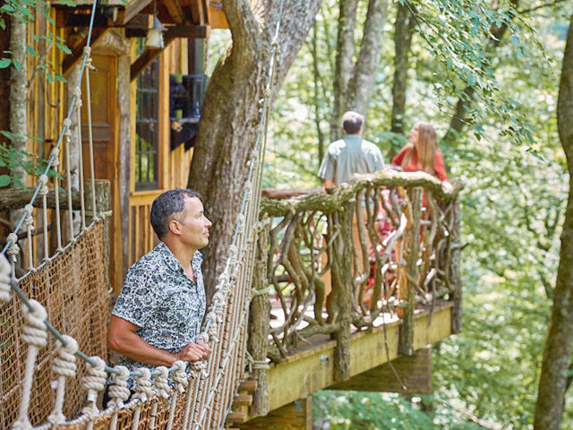 WNC tree house builders: Panthertown Treehouse: Experience nature in a truly unique way high up in the forest