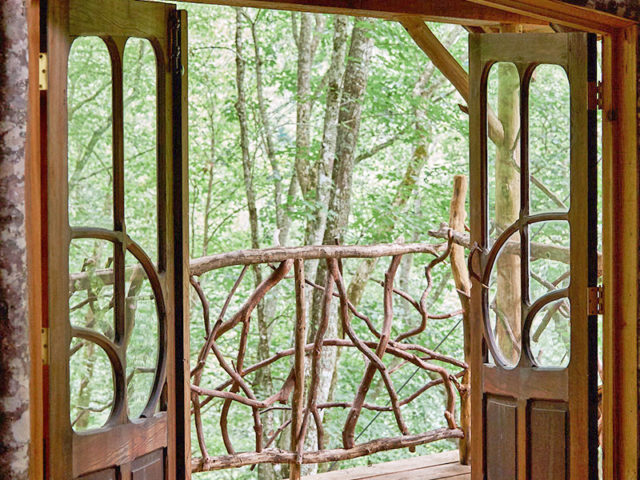 NC treehouse builders: Panthertown Treehouse: This could be your view in the morning!