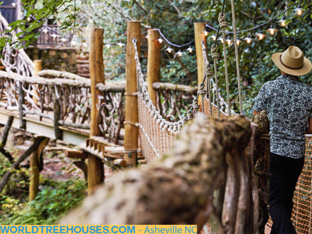 WNC tree house builders: Panthertown Treehouse: Our custom-created bridges are creative works of art and functionality.