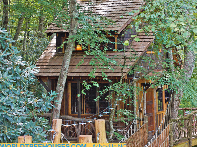 Western NC treehouse builder: Panthertown Treehouse: Retreat to nature as a remedy for the tribulations of life.